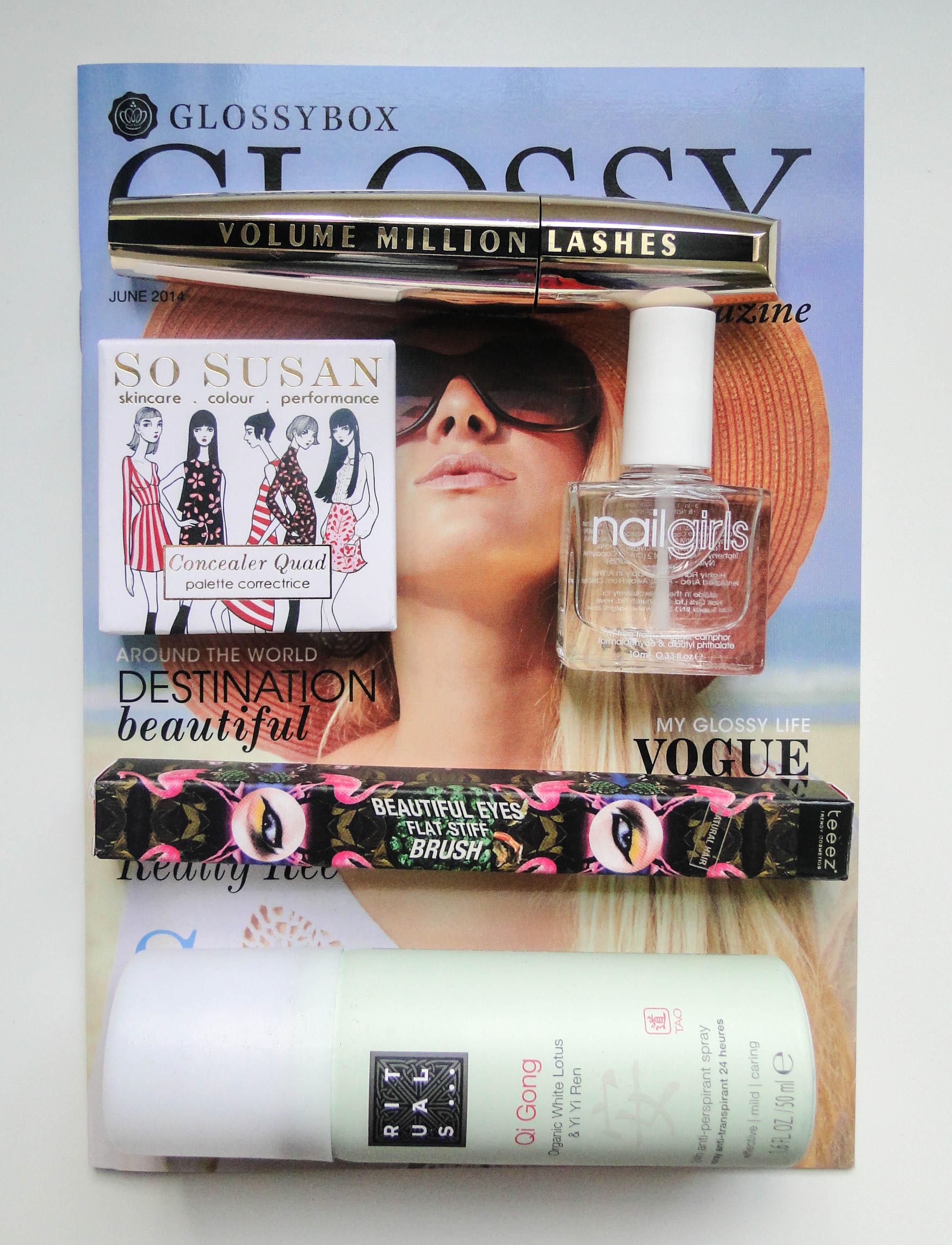 June 2014 Glossybox 1