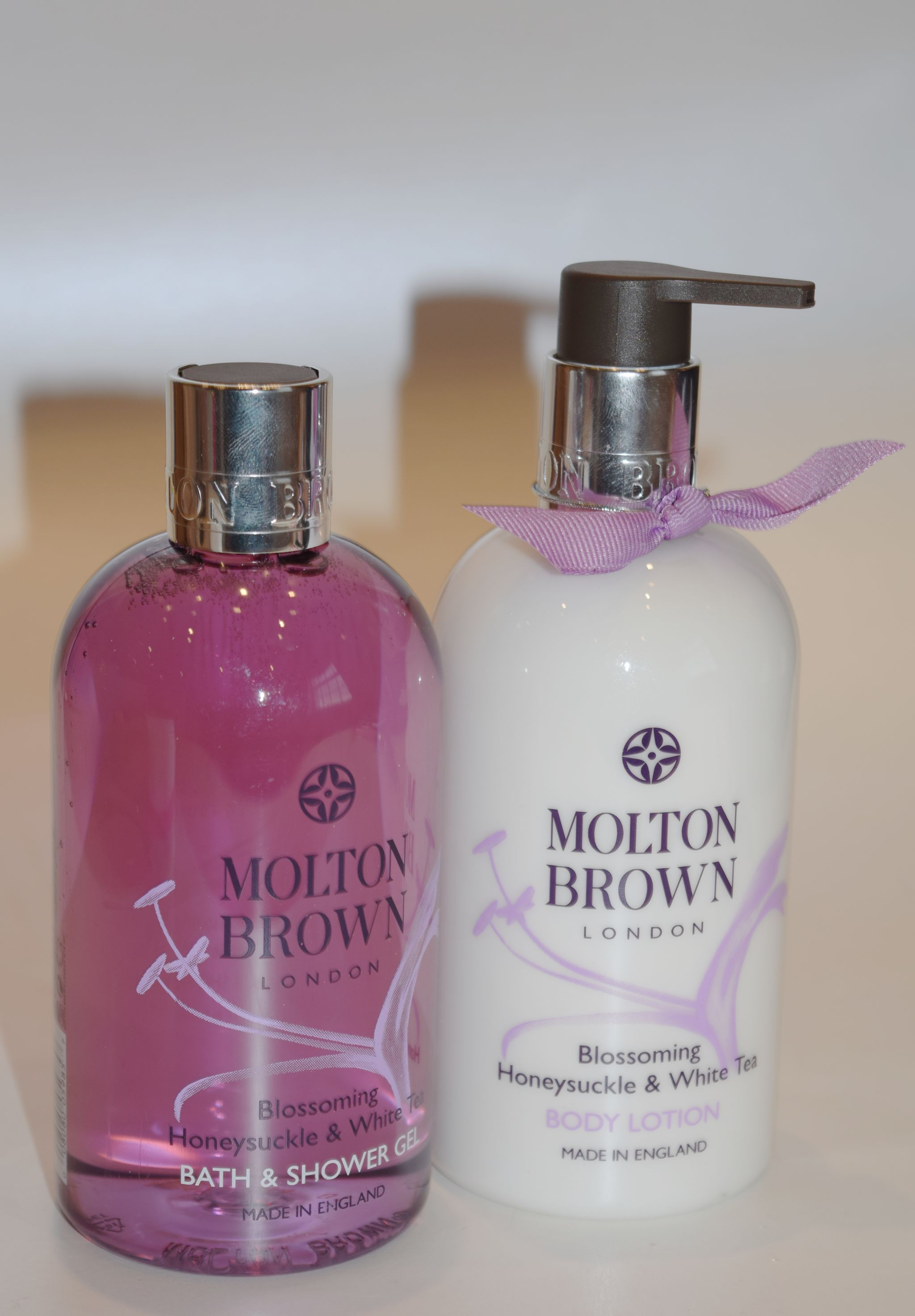 Molton Brown Blossoming Honeysuckle & White Tea Shower GEl and Body Lotion