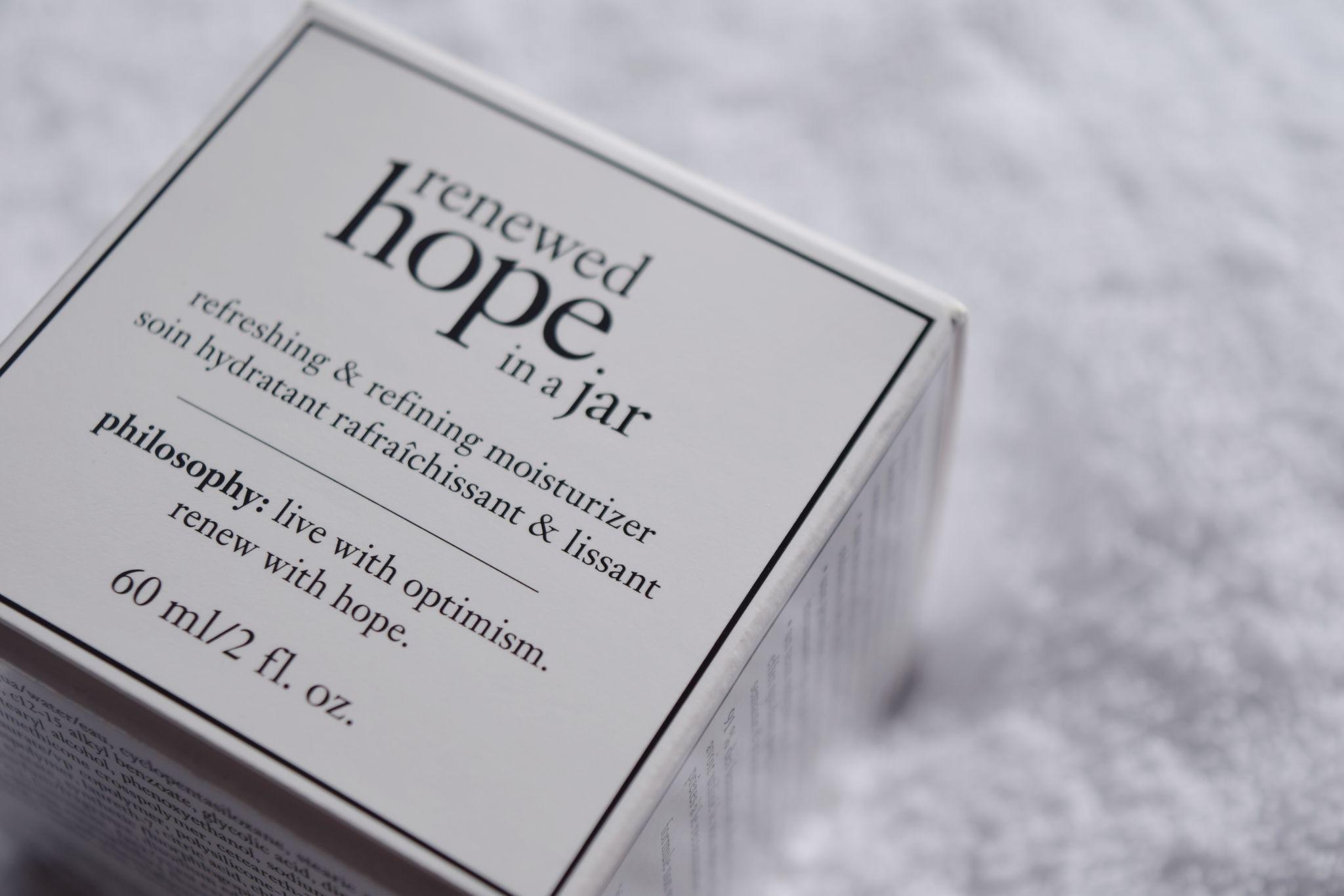 Philosophy Renewed Hope in a Jar 1