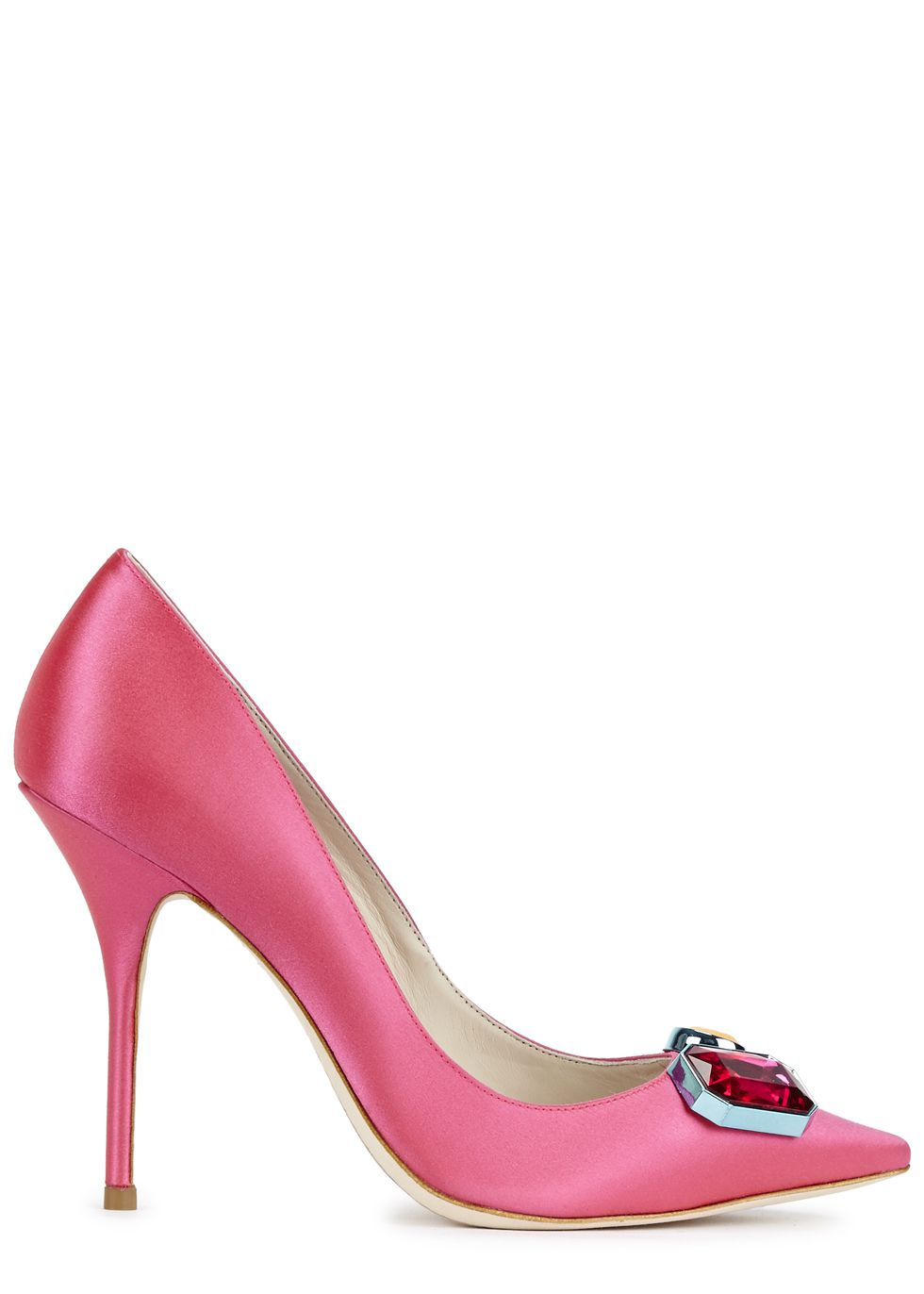 Sophia Webster Exclusive at Harvey Nichols - Lola Gem bright pink satin ...