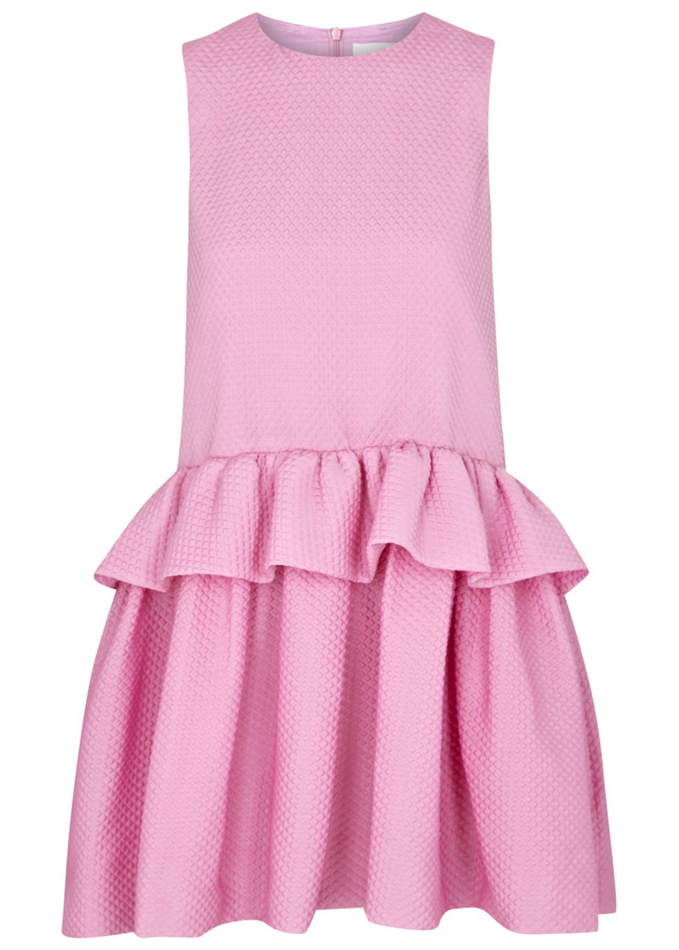 Victoria, Victoria Beckham at Harvey Nichols - Candy pink ruffle mini dr...