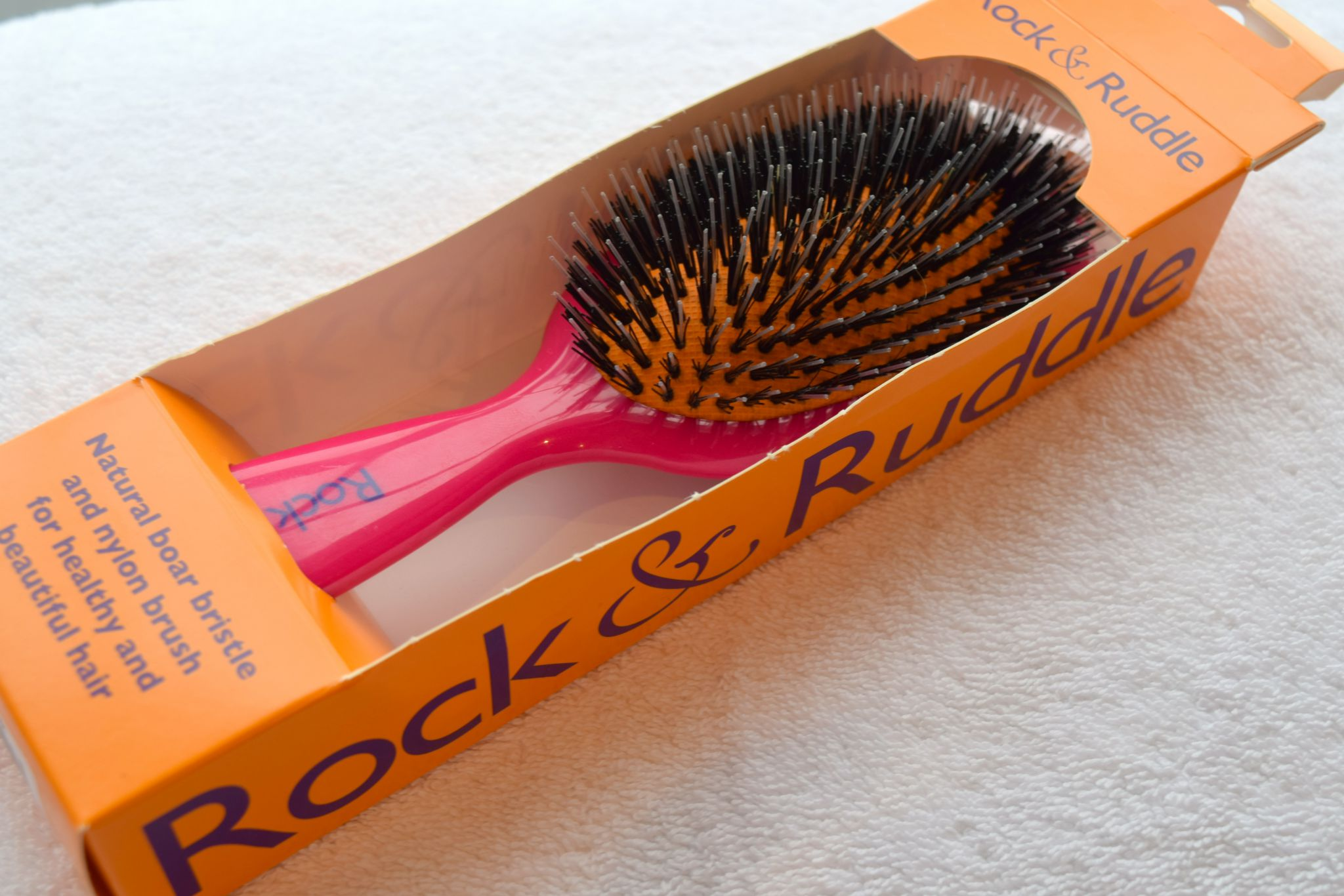 Rock & Ruddle Boar Bristle Brush Pink