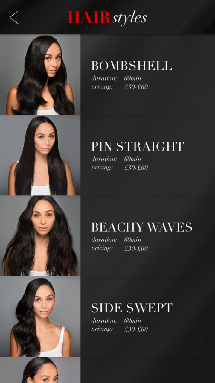 The Glam App Hair Styles