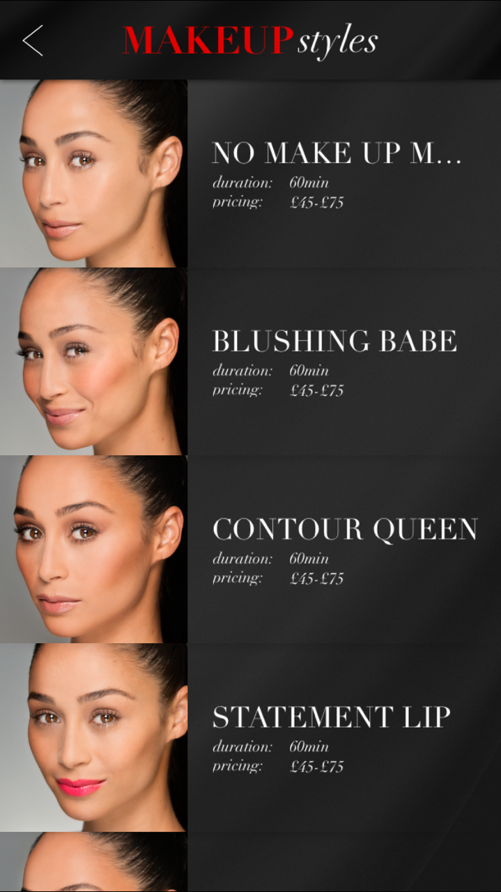 The Glam App Make-up Styles